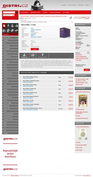 E-shop - detail zboží