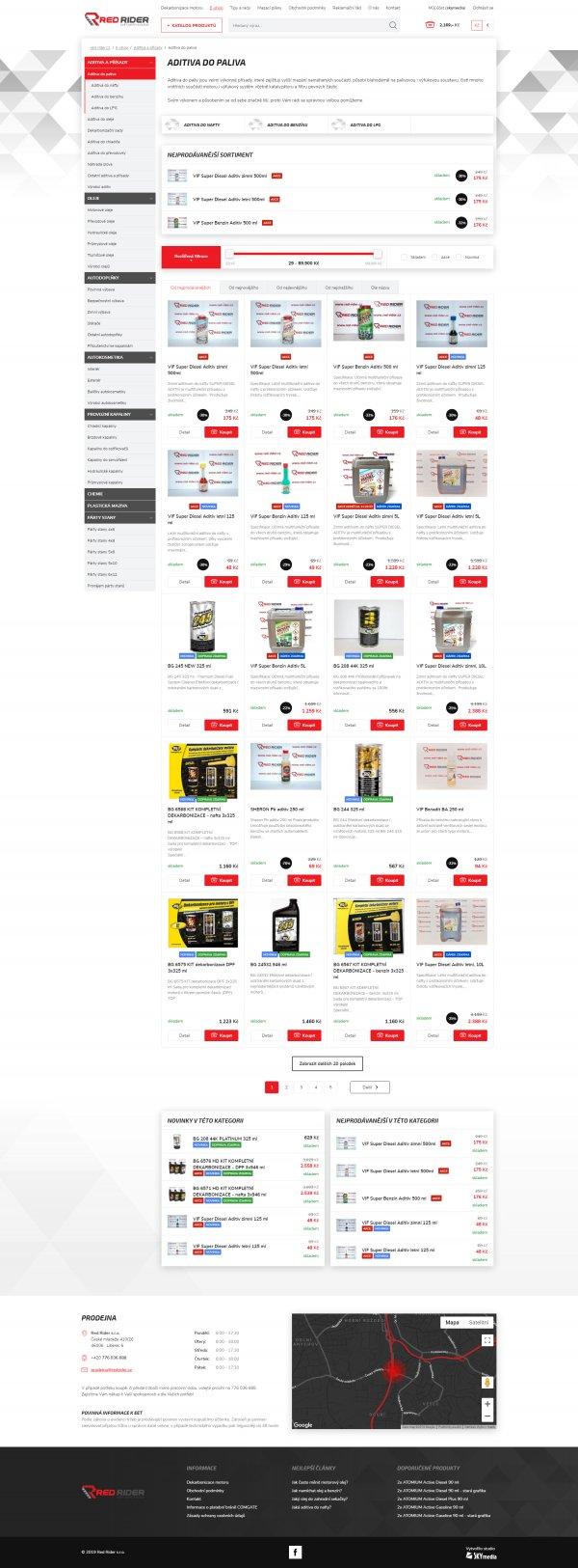 Výpis produktů